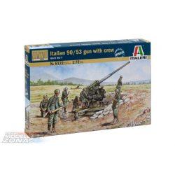 Italeri - 1:72 90/53 Geschütz mit Soldaten - makett