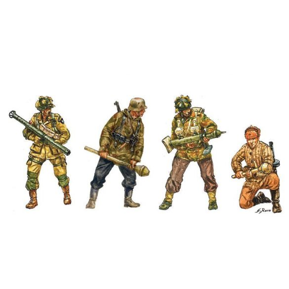 Italeri Anti Tank Teams - makett