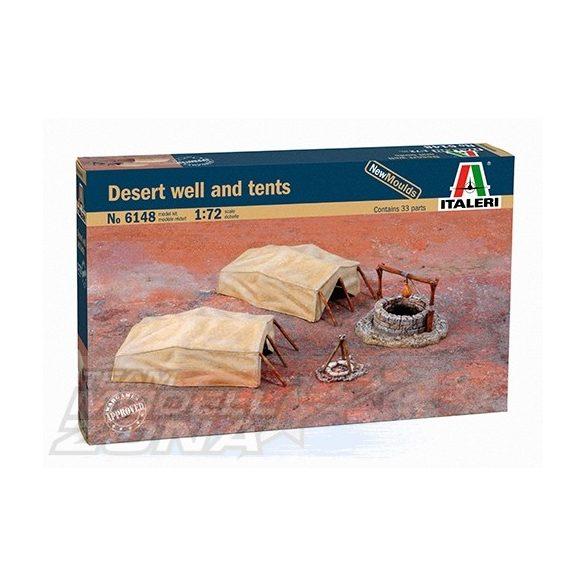 Italeri DESERT WELL & TENTS - makett