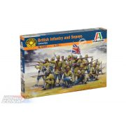 Italeri - BRITISH INFANTRY AND SEPOYS - dioráma makett szett