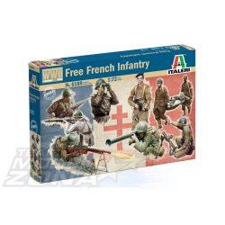 Italeri - 1:72 Frech Infantry WWII - figura szett - makett