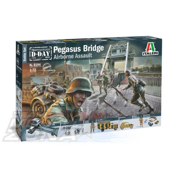 "Italeri - 1:72 BATTLE SET ""Pegasus Bridge"" - dioráma makett szett"
