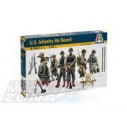 Italeri - 1:35 U.S. INFANTRY ON BOARD - makett figura szett (10 db)