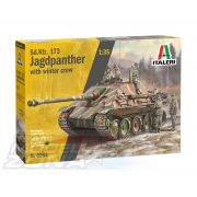 Italeri - 1:35 Sd.Kfz.173 JAGDPANTHER with winter crew - makett figurákkal