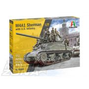 Italeri - 1:35 M4A1 SHERMAN with U.S. infantry - makett
