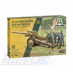 Italeri - 1:72 15cm FieldHowitzer/ 10,5cm FieldGun - makett