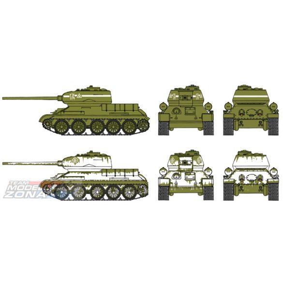 Italeri - Russischer Panzer T-34/85 Fast Assembly Kit - makett