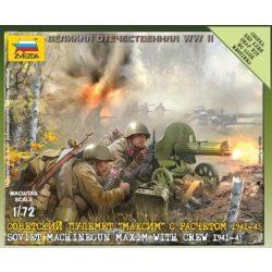 Zvezda Sovielt Machinegun Crew 1941 - makett