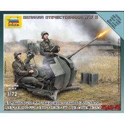 Zvezda German 2cm Flak 38 w/Crew - makett