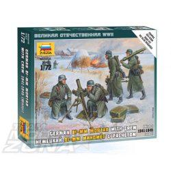 Zvezda German 80 mm Mortar w/Crew - makett