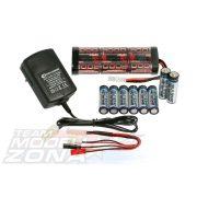 Elektromos starter szett ( töltő , akkumulátor, elem)